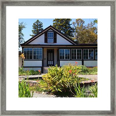 Historic Jack London Cottage And Garden In Glen Ellen California 5d24556 Square Framed Print
