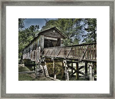 Historic Kymulga Covered Bridge Framed Print