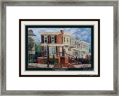 Historic Louis Redding House Framed Print by Keith OBrien Simms