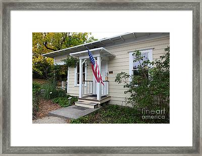 Historic Luther Burbank Cottage And Farm Sebastopol California 5d25923 Framed Print