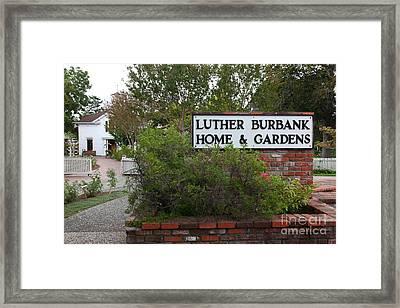 Historic Luther Burbank Home And Gardens Santa Rosa California 5d25891 Framed Print