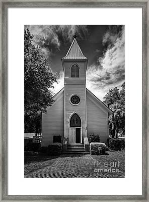 Historic Mcintosh Methodist Church Framed Print by Lynn Palmer