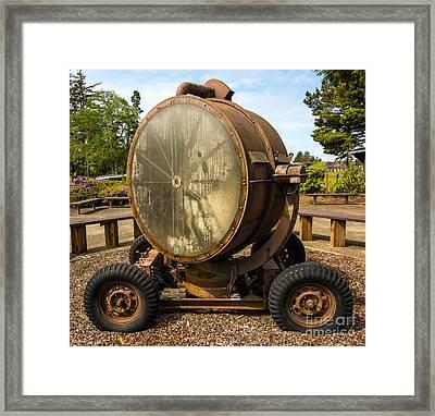 Historic Military Spotlight - Fort Stevens - Oregon Framed Print by Gary Whitton