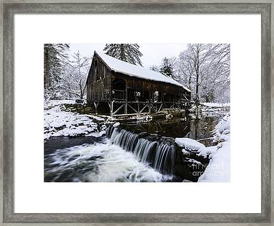 Historic Mill - Vintage 1800s Framed Print by Thomas Schoeller