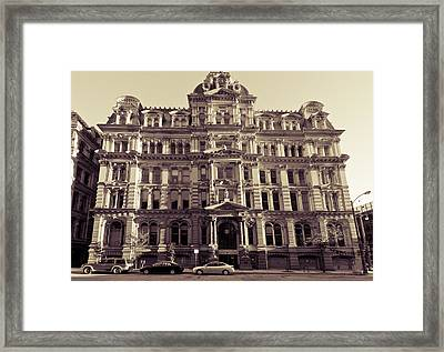 Historic Mitchell Building Framed Print by Anthony Sell