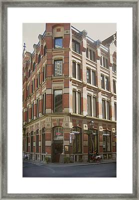 historic Montreal  EARLY MORNING WATERING Framed Print by Ann Powell