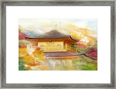 Historic Monuments Of Ancient Kyoto  Uji And Otsu Cities Framed Print by Catf