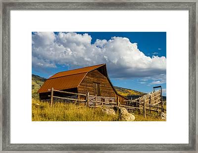 Historic Moore Barn Steamboat Springs Co Framed Print