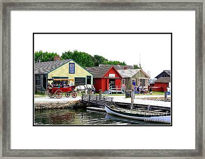 Historic Mystic Seaport Framed Print by Dora Sofia Caputo Photographic Art and Design