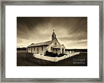 Historic Old Adobe Spanish Style Catholic Church San Ysidro New Mexico Framed Print