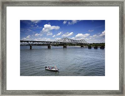 Historic Oneal Bridge On The Tennessee River In Florence Framed Print by Carol M Highsmith