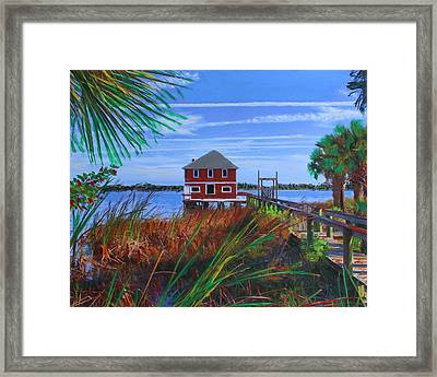 Historic Ormond Boathouse Framed Print