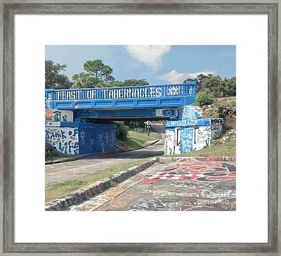 Historic Pensacola Graffiti Bridge Framed Print