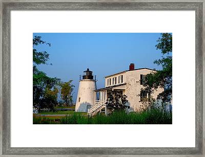 Historic Piney Point Lighthouse Framed Print by Bill Cannon