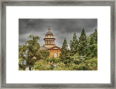 Framed Print featuring the photograph Historic Placer County Courthouse by Jim Thompson