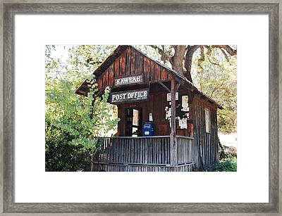 Historic Post Office Framed Print by Lyn Trask