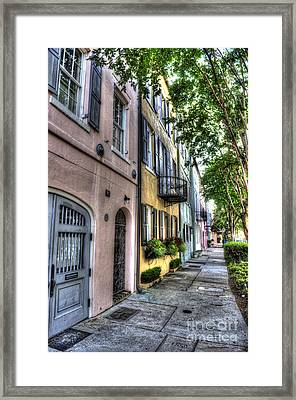 Historic Rainbow Row Framed Print