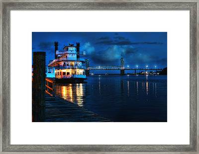 Historic Riverfront Framed Print by Rafe Martin