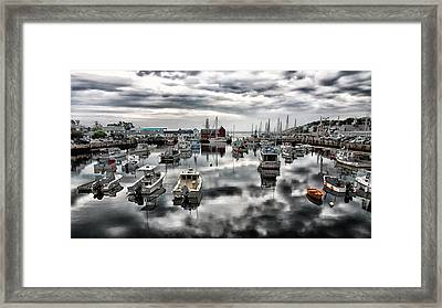 Historic Rockport Harbor Framed Print