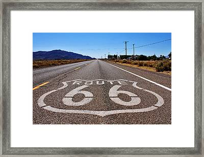 Historic Route 66 Framed Print by Cedric Darrigrand
