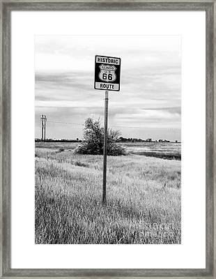 Historic Route 66 Framed Print by John Rizzuto