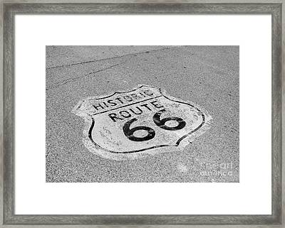Historic Route 66 Framed Print by Kay Pickens