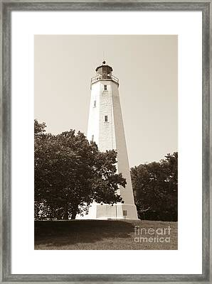 Historic Sandy Hook Lighthouse Framed Print
