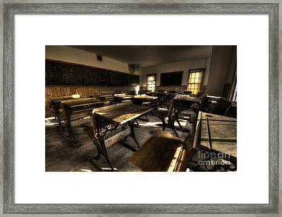 Historic School Bannack Montana 2 Framed Print by Bob Christopher