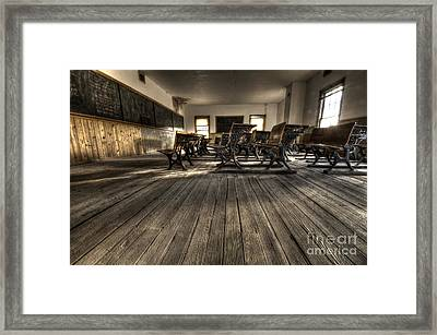 Historic School Bannack Montana 3 Framed Print by Bob Christopher