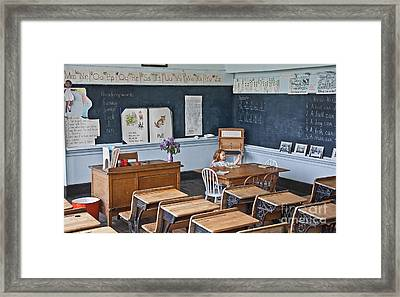 Historic School Classroom Art Prints Framed Print