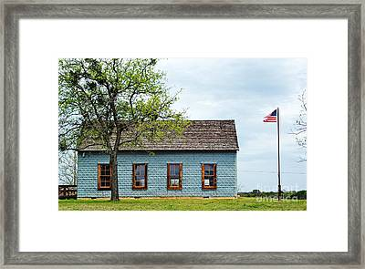 Historic School House Framed Print by Gary Richards