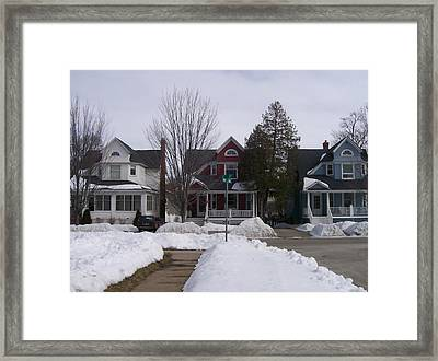 Historic Seventh Street Menominee Framed Print by Jonathon Hansen