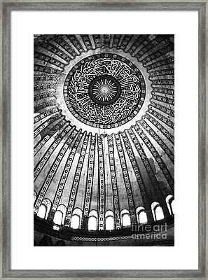 Historic Sophia Ceiling Framed Print by John Rizzuto