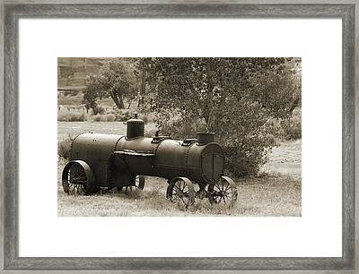 Historic Steam Tractor Framed Print by Christiane Schulze Art And Photography