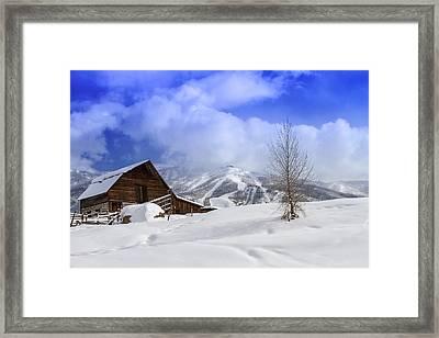 Historic Steamboat Springs Barn Framed Print by Teri Virbickis