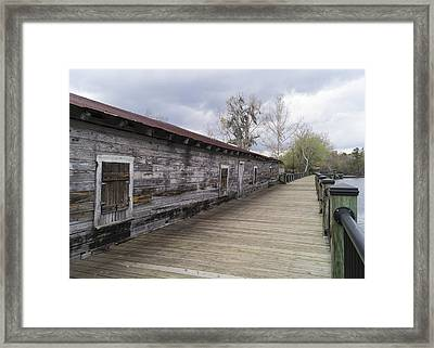 Historic Steamer Terminal On The Waccamaw River Framed Print by MM Anderson