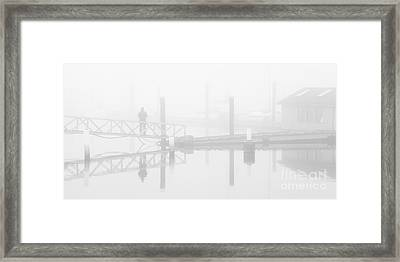Historic Stewart Farm In The Fog Framed Print by Chris Dutton