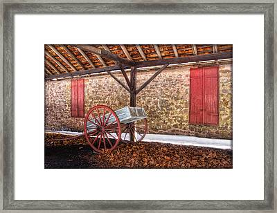 Historic Storage Shed Framed Print by Carolyn Derstine
