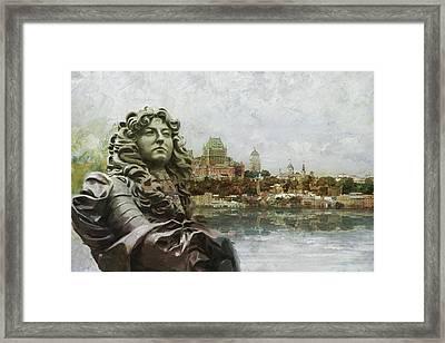 Historic Town Of Old Quebec Framed Print