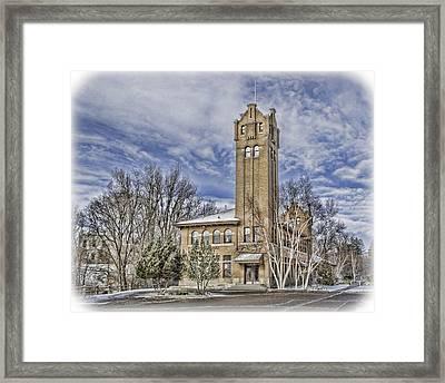 Historic Train Station Framed Print by Fran Riley