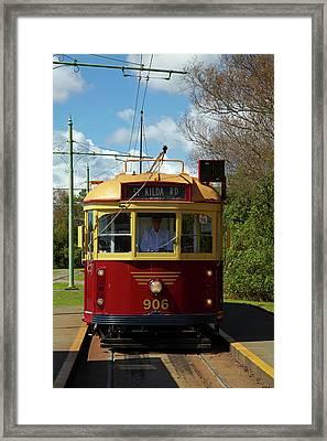 Historic Tram, Motat (museum Framed Print by David Wall