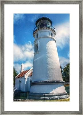 Historic Umpqua River Lighthouse Framed Print by Tyra  OBryant