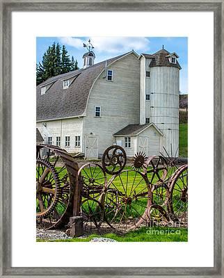 Historic Uniontown Washington Dairy Barn Framed Print