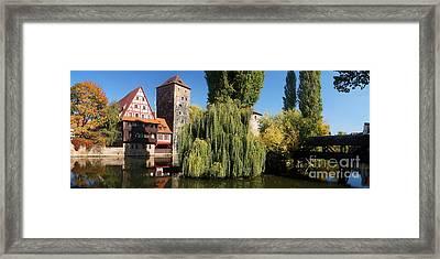 historic winestorage and executioner bridge in Nuremberg Framed Print by Rudi Prott