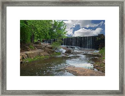 Historic Yates Mill Dam - Raleigh N C Framed Print