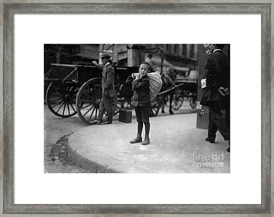 Historical 20st Century People Black And White Artwork 102 Framed Print