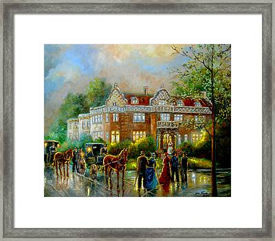 Historical Architecture Indiana Baker House Mansion  Framed Print by Regina Femrite