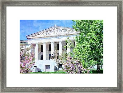Historical Museum In Spring Framed Print by Kathleen Struckle