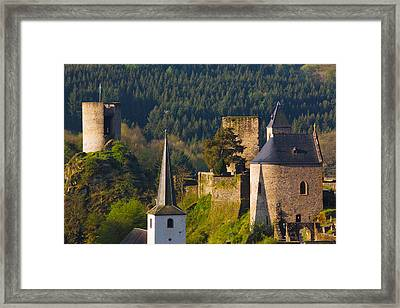 Historical Buildings In A Town Framed Print by Panoramic Images