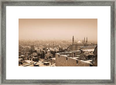 Framed Print featuring the photograph Historical Buildings Of Cairo by Mohamed Elkhamisy